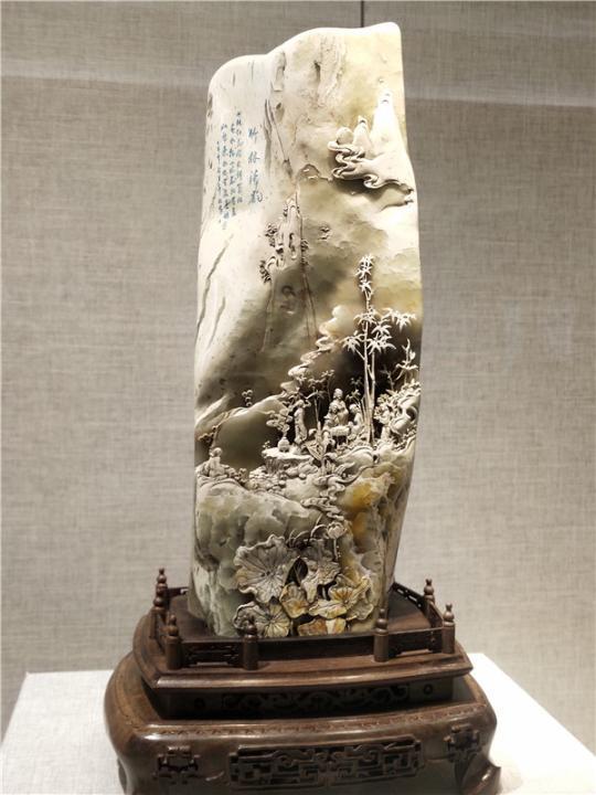 张华俊作品《竹林清韵》。东南网记者 张立庆 摄